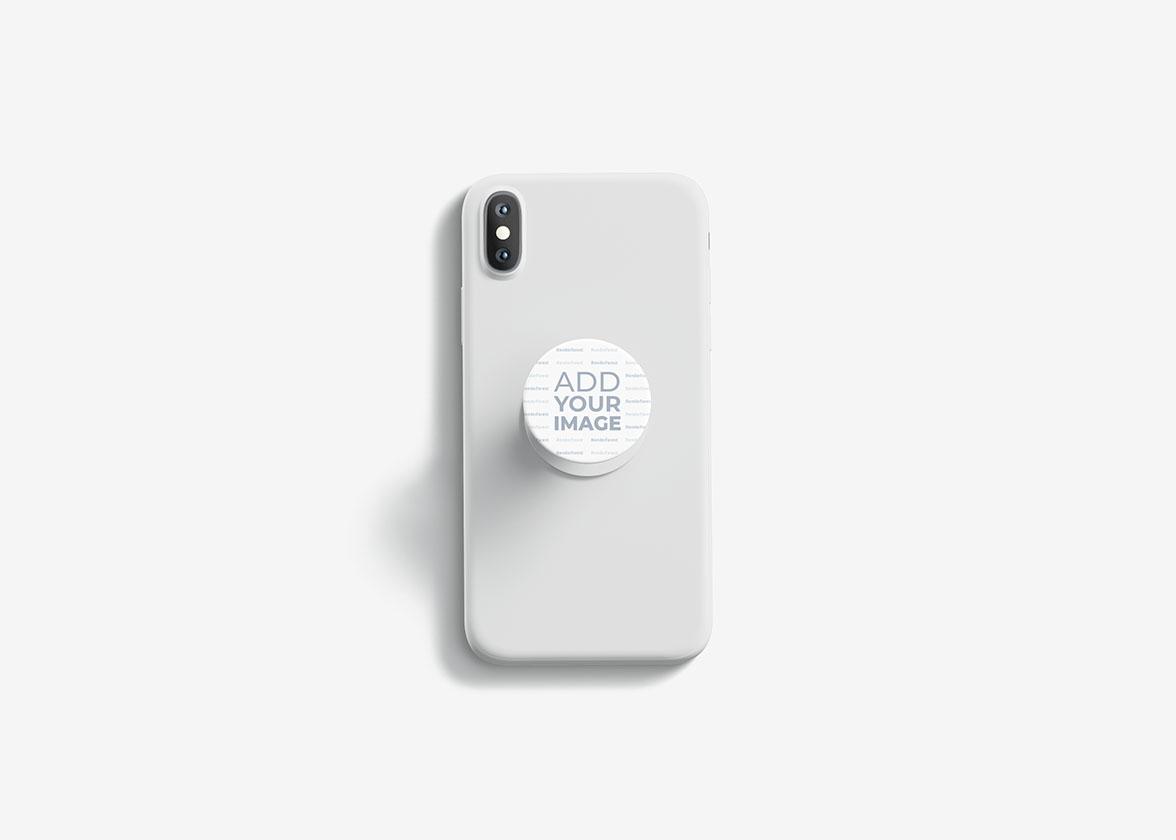 Ausgeklappte PopSockets auf einem Smartphone