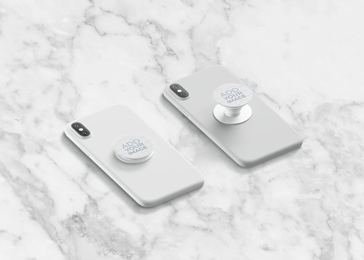 Smartphone PopSockets Seitenansicht