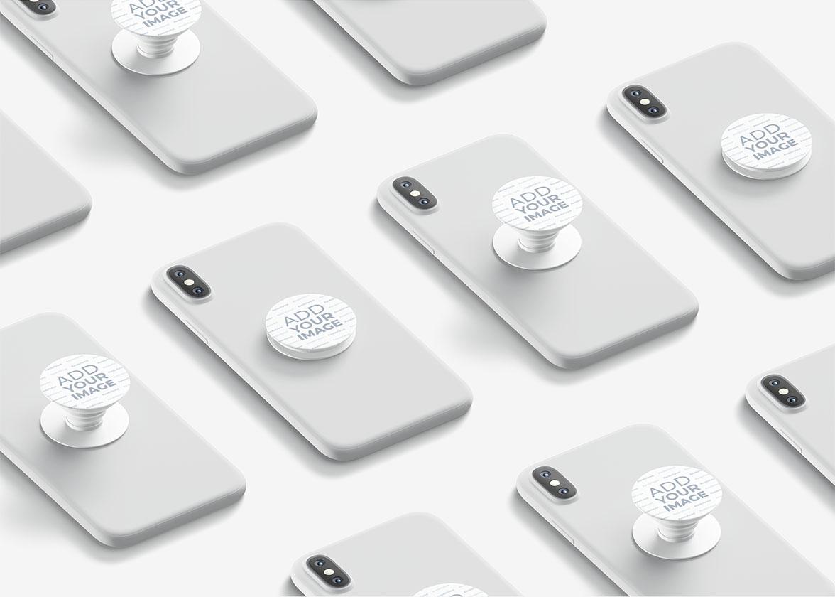 Mehrere PopSockets auf Smartphones