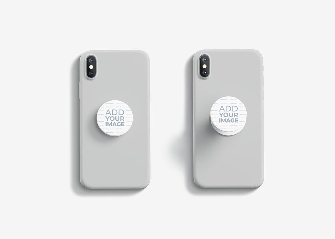 Smartphone PopSockets Draufsicht