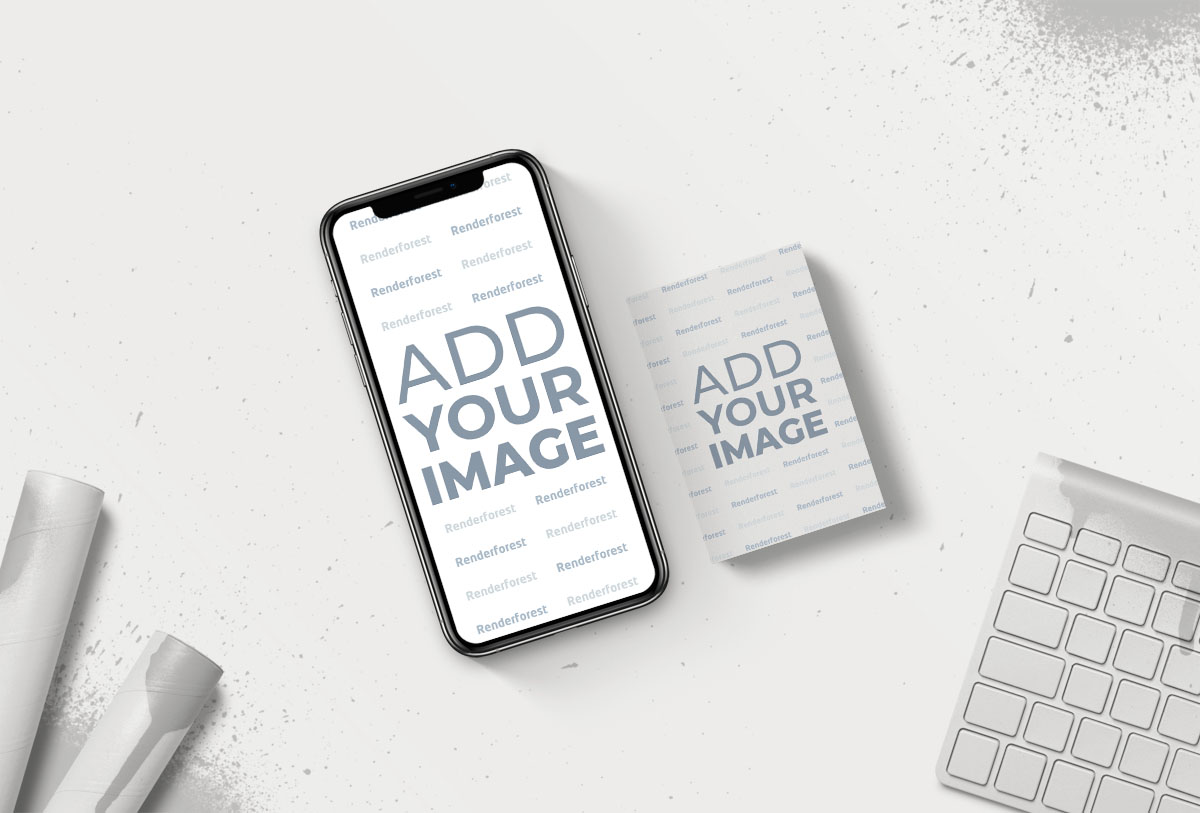 iPhone com um Cartão de Visita