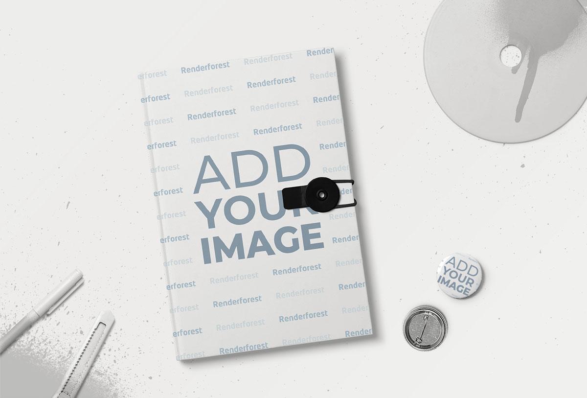 Caderno de Botão com Buttons