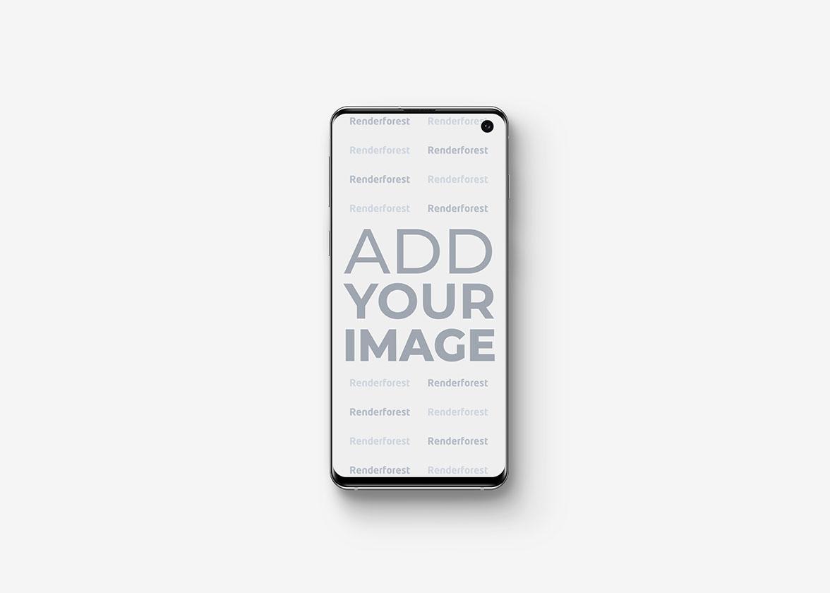 Vue de face de Samsung Galaxy S10