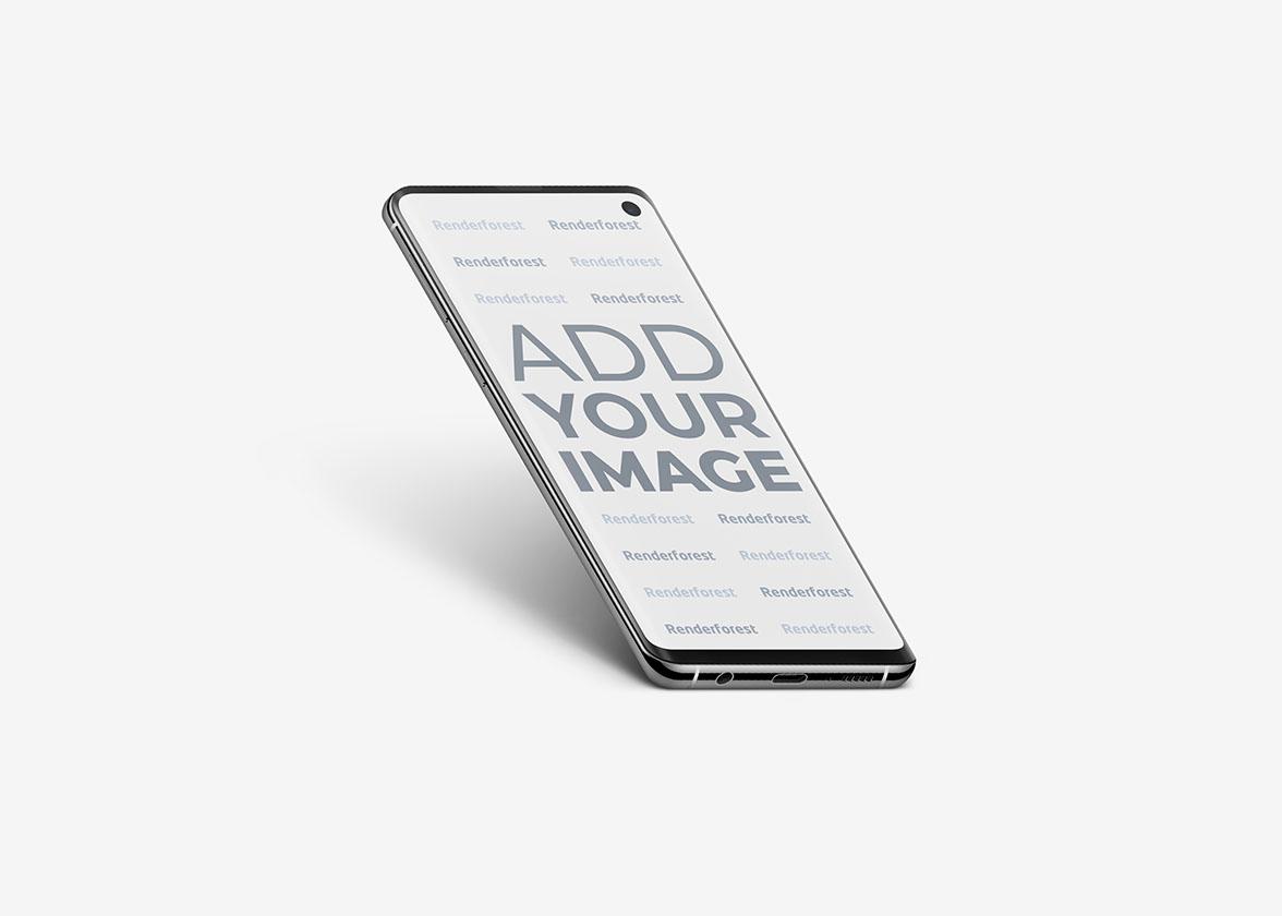 Vue latérale de Samsung Galaxy S10