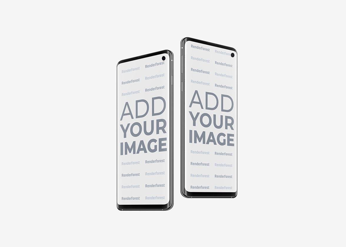 Zwei Samsung Galaxy S10 Smartphones