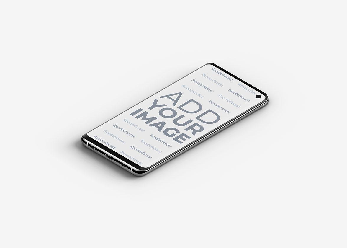 Vue de dessus droite du Samsung Galaxy S10