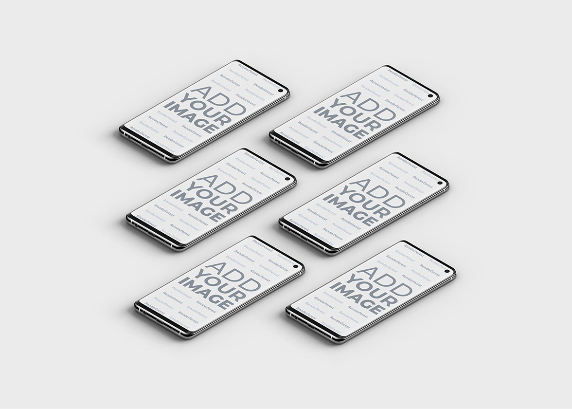 Isometrische Samsung Galaxy S10 Smartphones