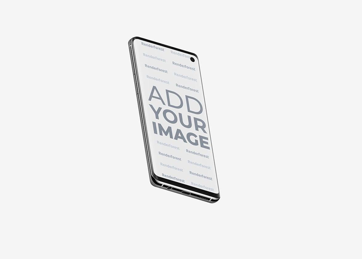 Samsung Galaxy S10 in der Luft