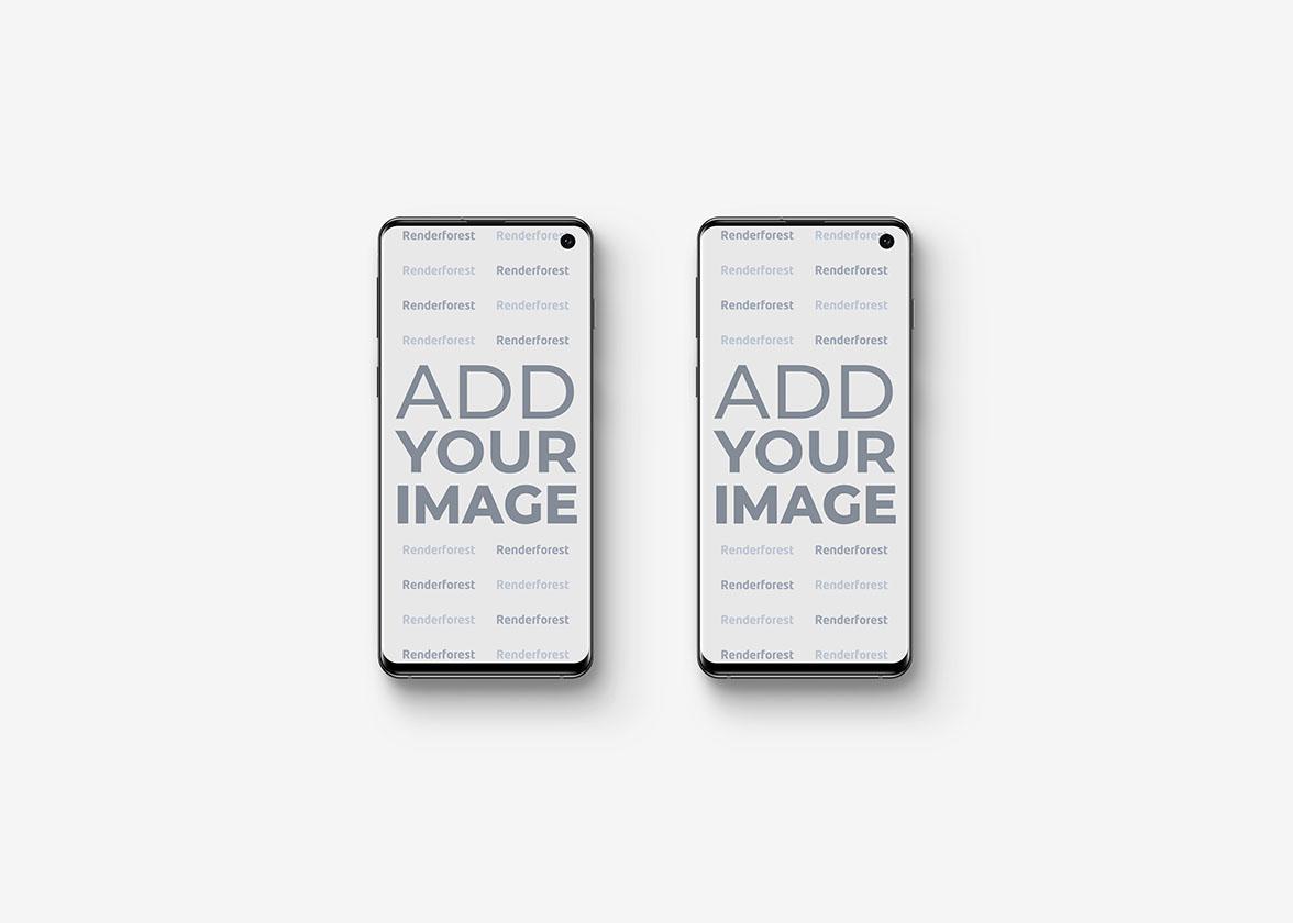 Zwei Galaxy S10 Smartphones Vorderansicht
