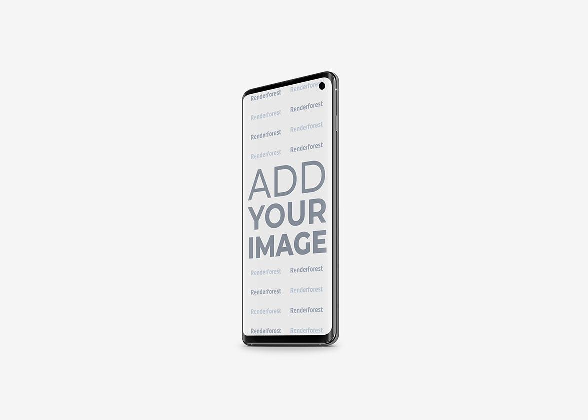 Vue latérale droite de Samsung Galaxy S10