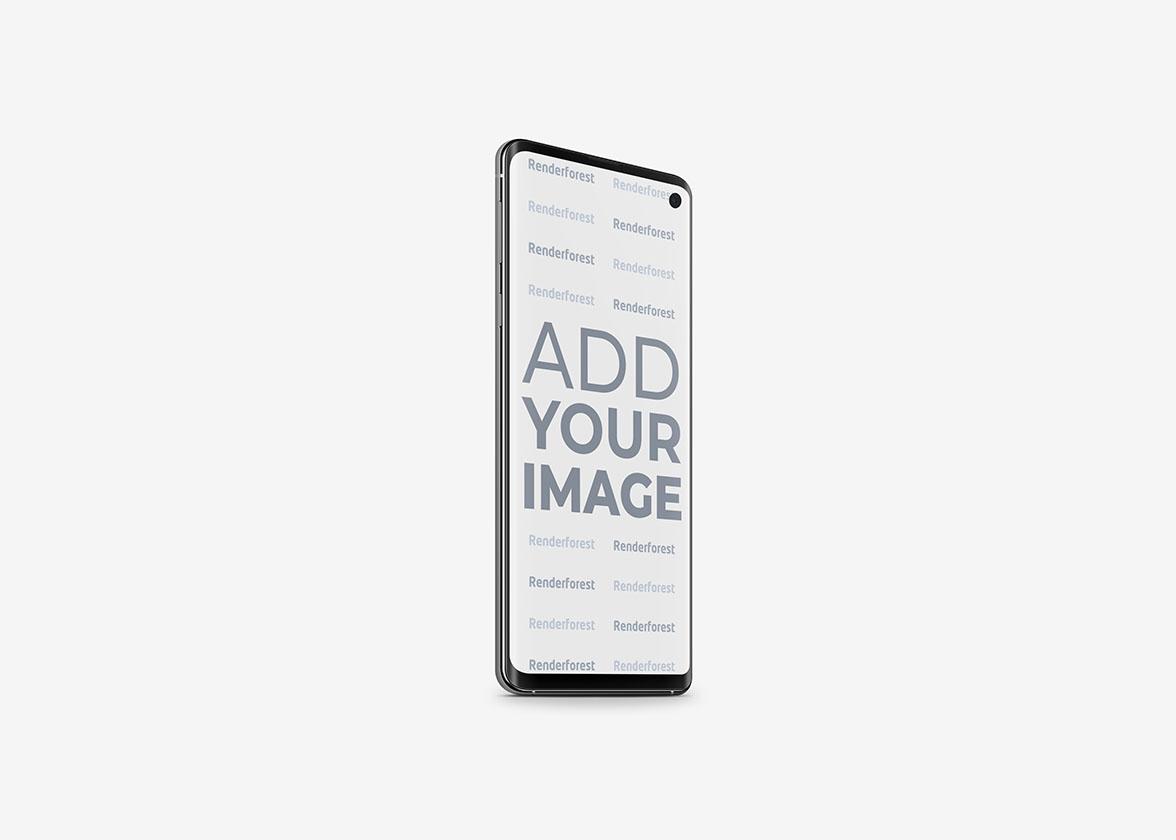 Vue latérale gauche de Samsung Galaxy S10