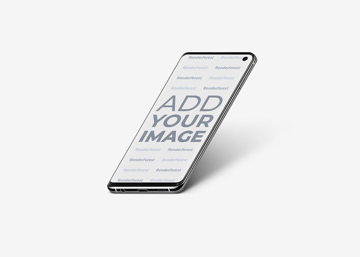 Samsung Galaxy S10 Zurückgekippt