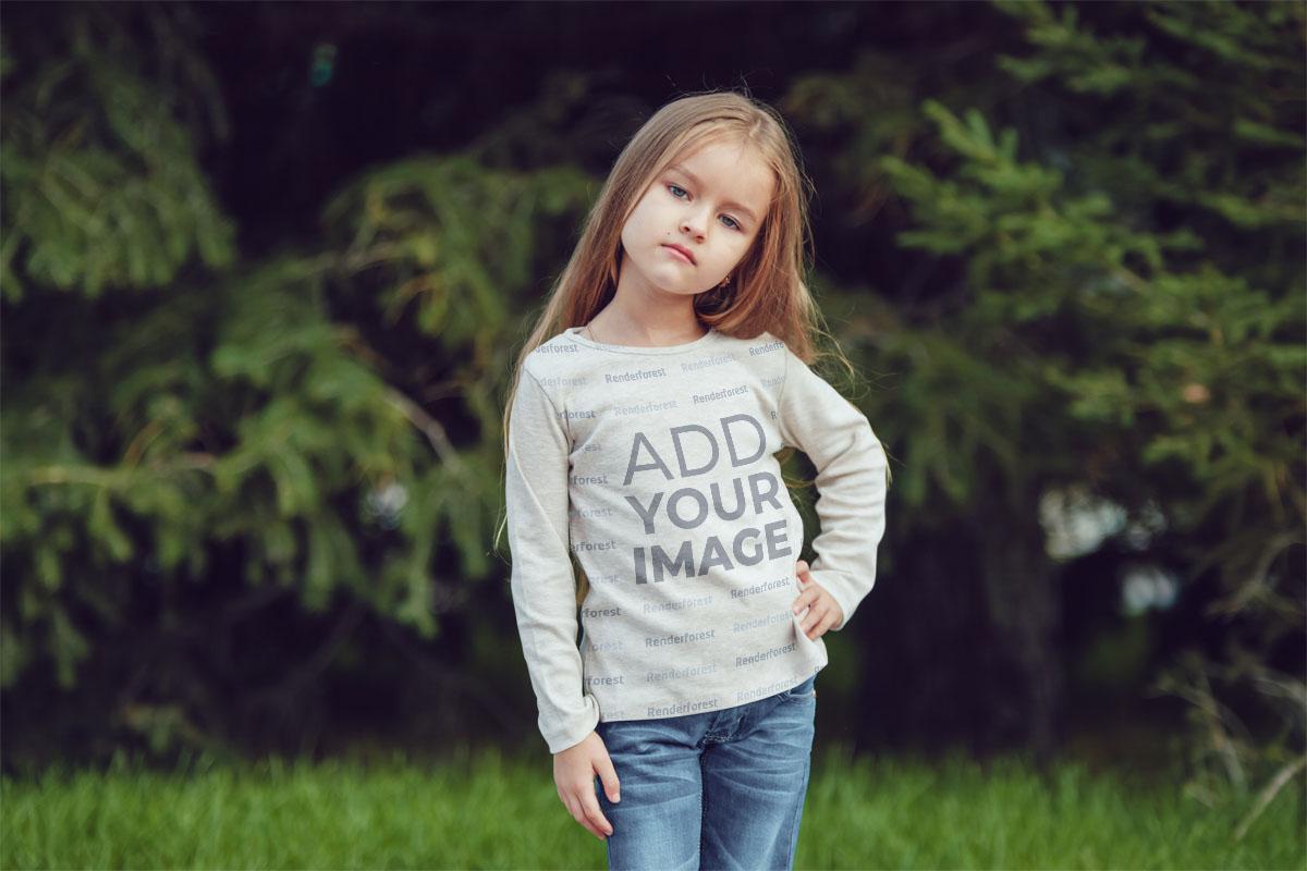Parkta Küçük Kız