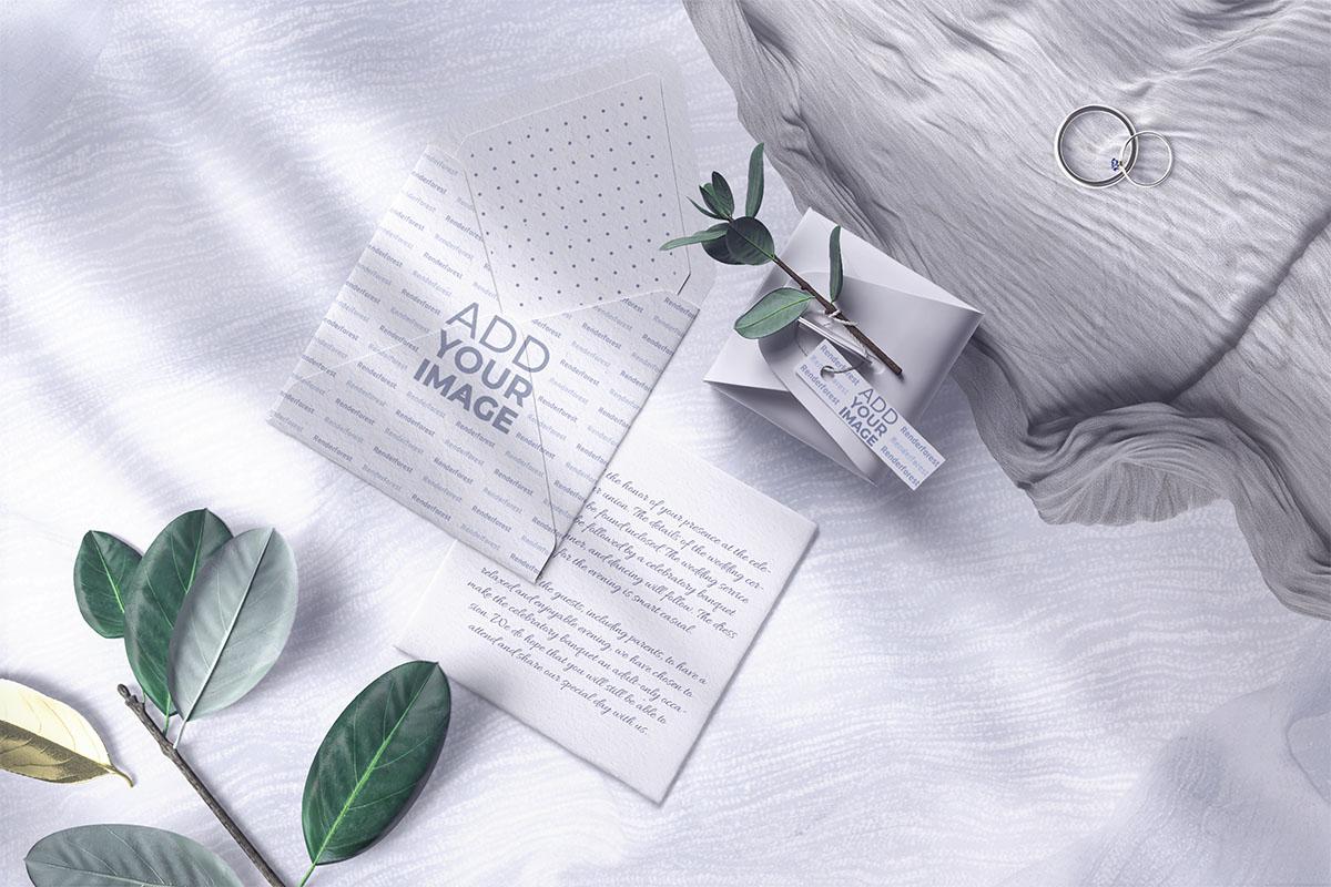 結婚式の招待状、封筒、パッケージ