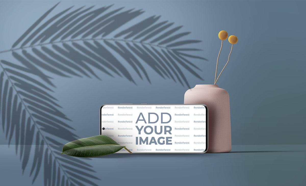 Горизонтальный Samsung Galaxy S20, декоративная ваза