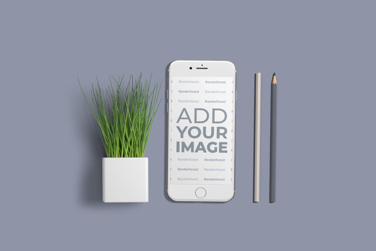 iPhone, Pencils, and a Plant Pot