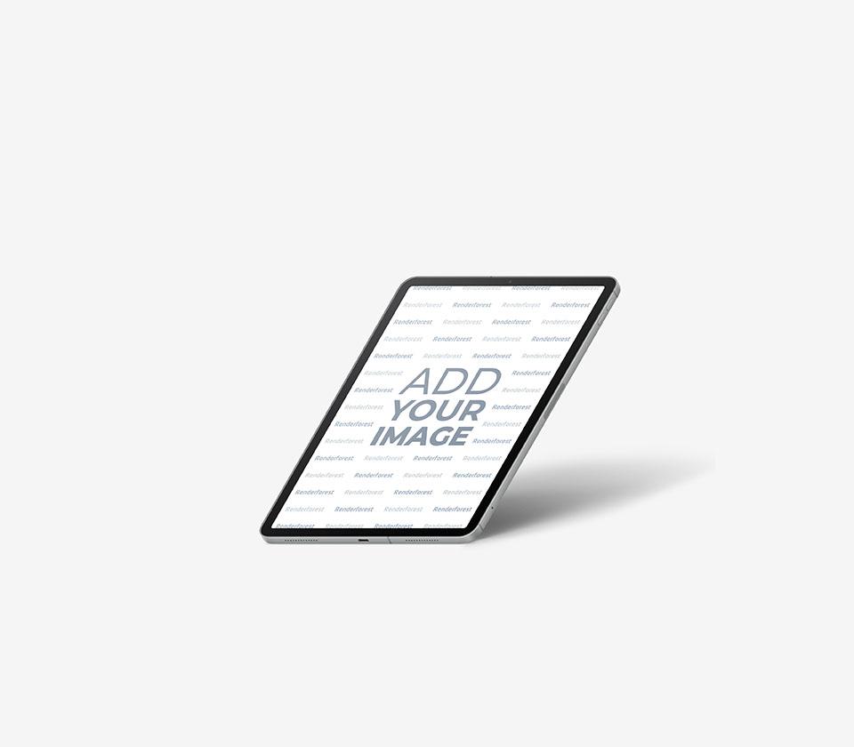 Vista Lateral Direita do iPad Inclinado