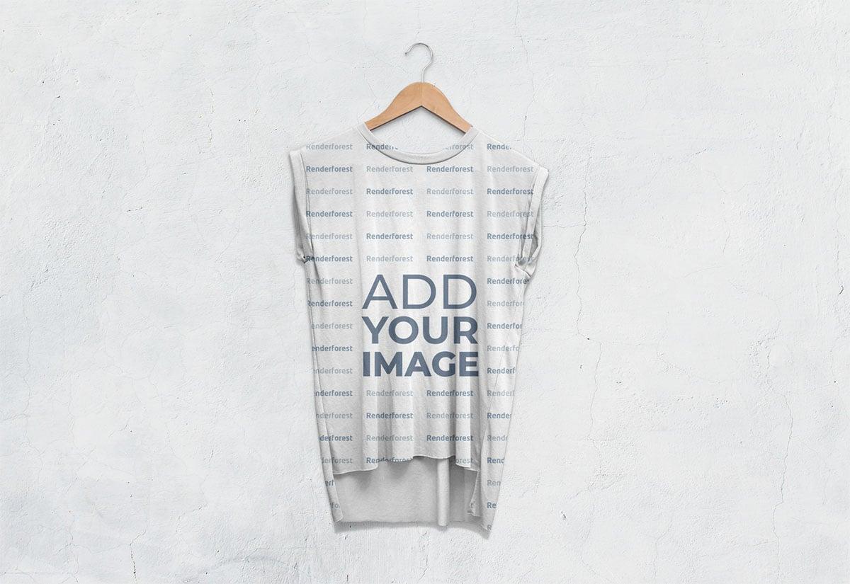 Vista frontal de camiseta workout sin mangas para hombre