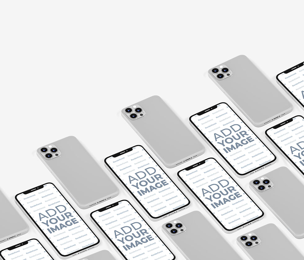 Multiple iPhone 12 Models Front and Back