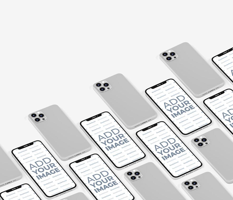موديلات ايفون 12 متعددة من الأمام والخلف