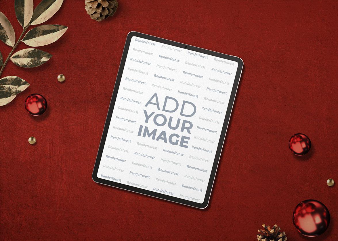 iPad Pro на новогоднем фоне