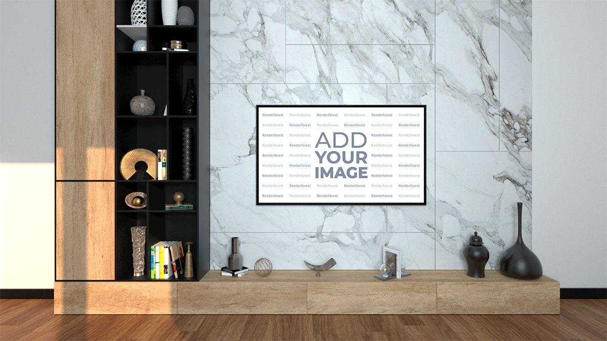 Duvara Monte Edilmiş Düz Ekran TV