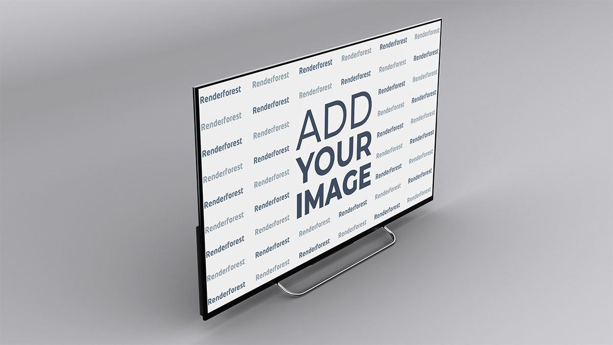 Smart TV Obere linke Seitenansicht