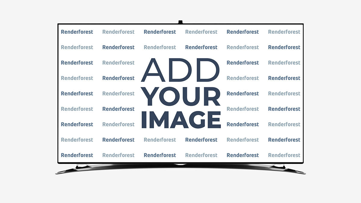 Smart TV auf seinem Ständer Vorderansicht
