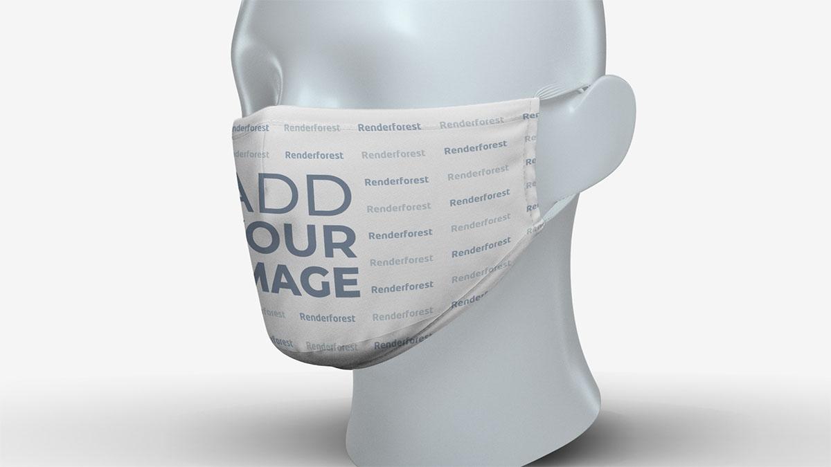 Máscara Facial com Zoom na Cabeça de Um Manequim