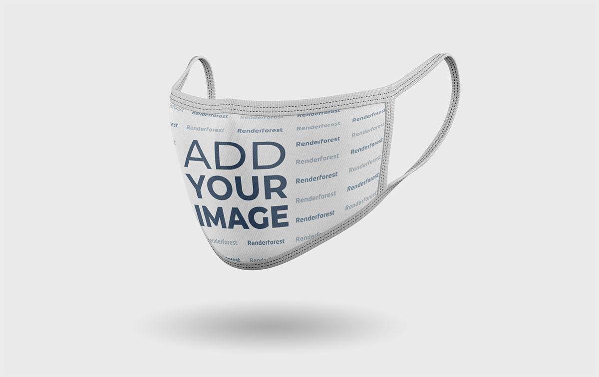 Gemusterte Gesichtsmaske Rechte Seitenansicht