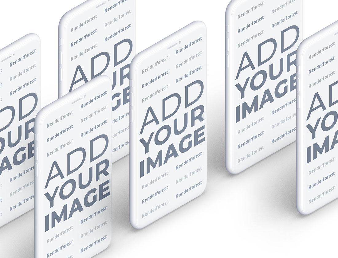 Mavi Yüzey Üzerinde Çok Sayıda Hamur iPhone