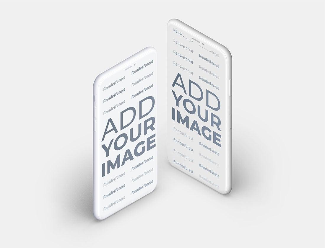 Mavi Yüzey Üzerinde İki Adet Hamur iPhone