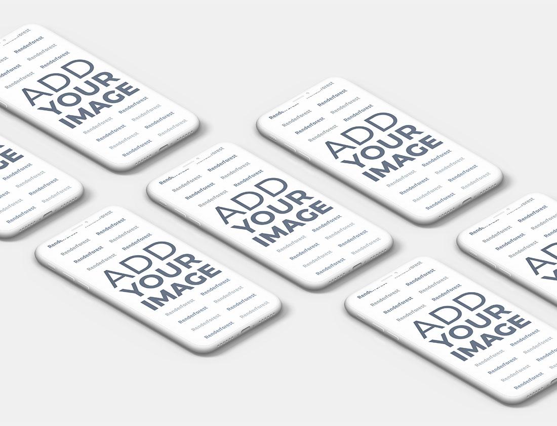 İzometrik Hamur iPhone'ların Sol Taraftan Görünüşü