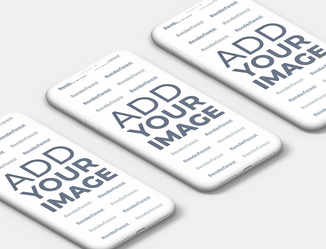 Üç Adet Hamur iPhone'un Yakından Görünüşü