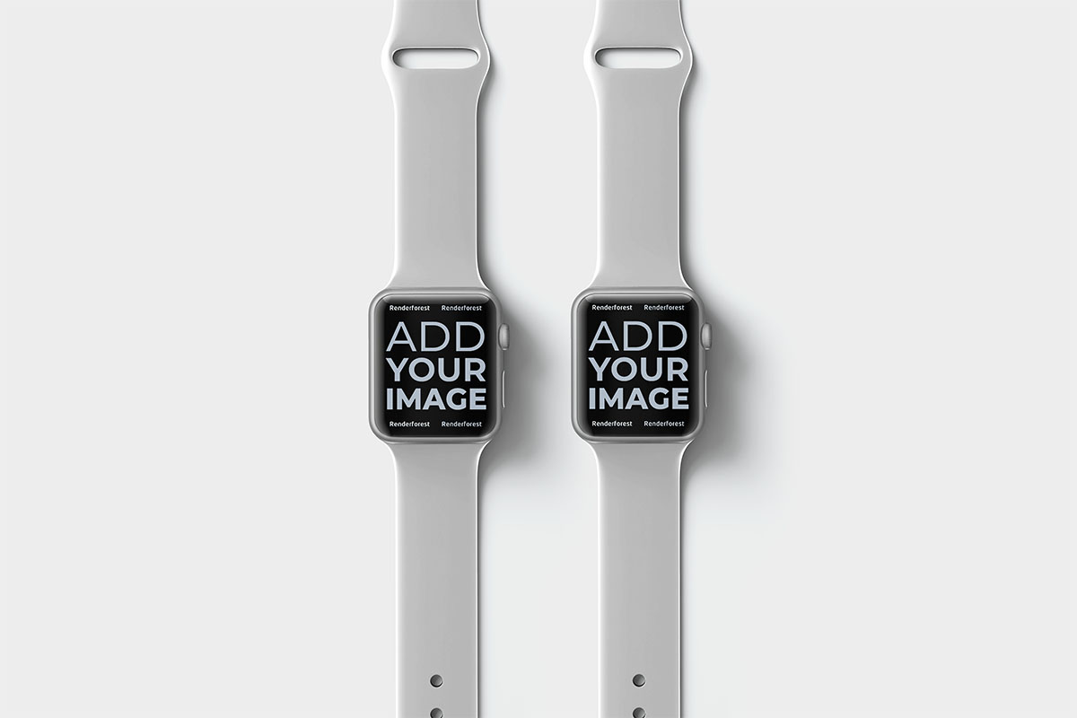 Two Apple Watches on a Beige Surface