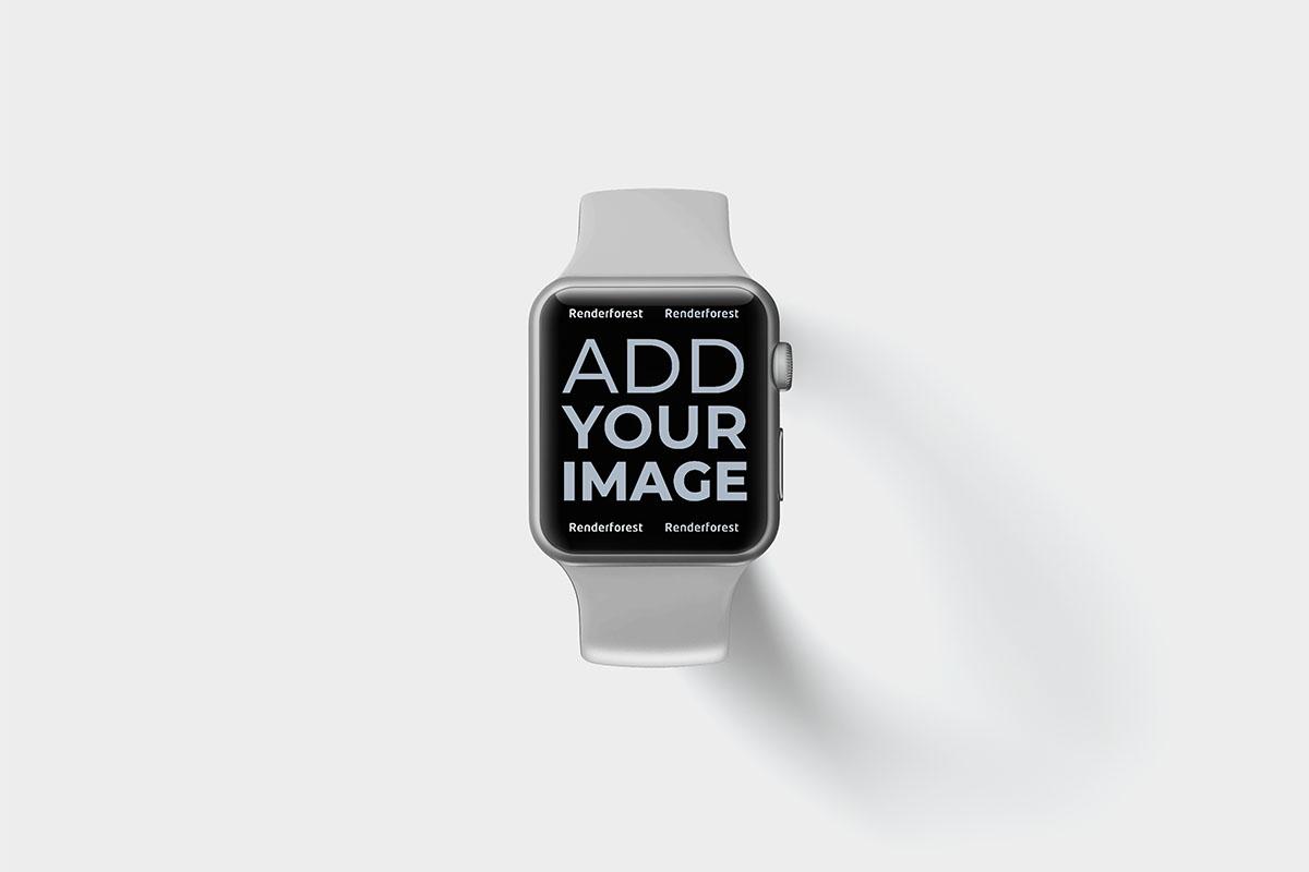 Apple Watch sur une surface noire