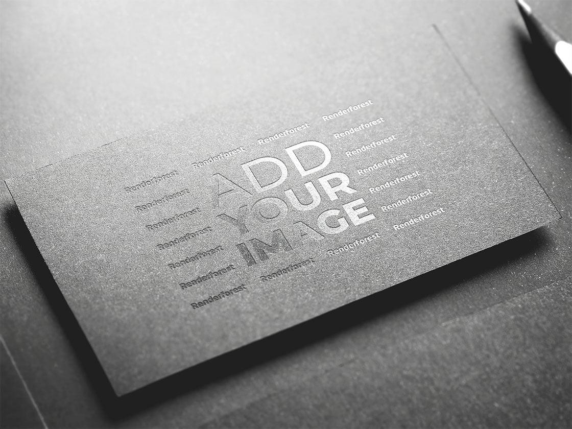 Logo on a Black Business Card