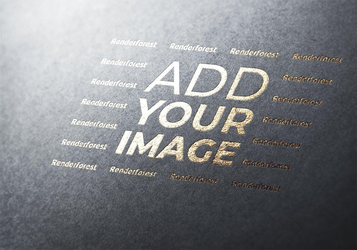 Logotipo em uma Superfície Cinza Texturizada