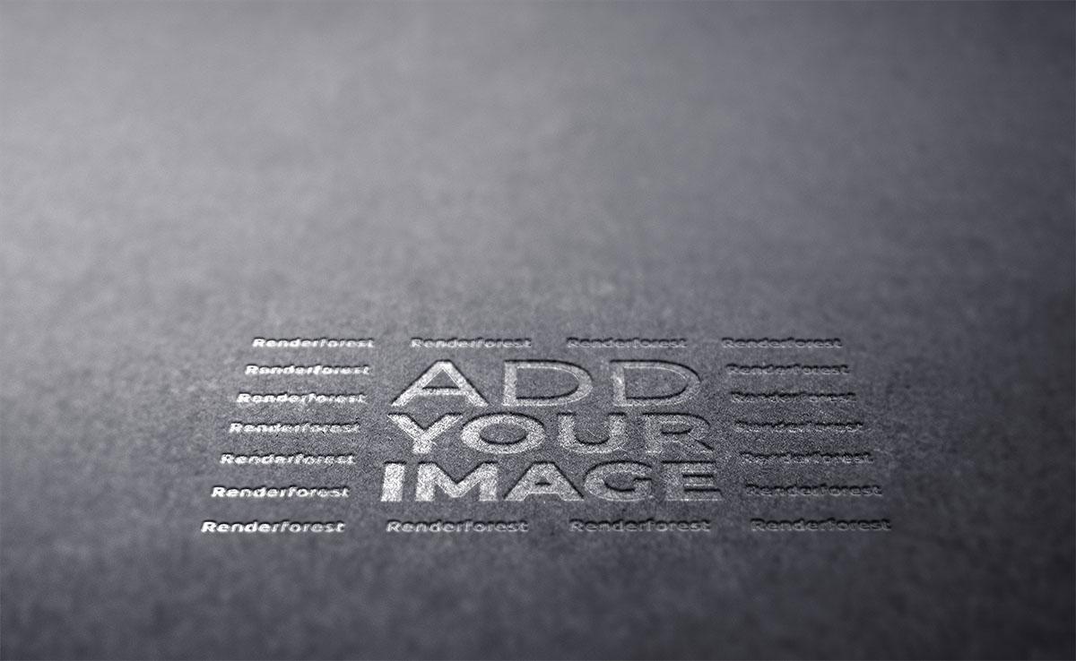 Logotipo em uma Textura Cinza Escuro