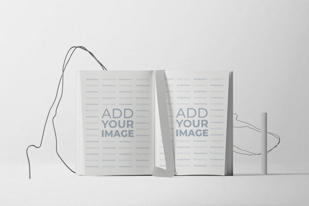 Livre ouvert avec décorations en cordon
