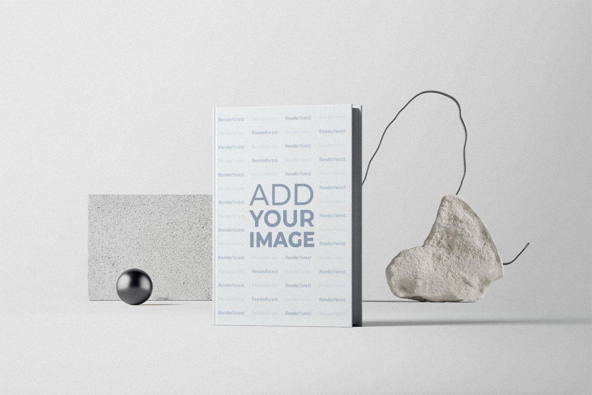 Livre à couverture rigide avec des pierres anciennes