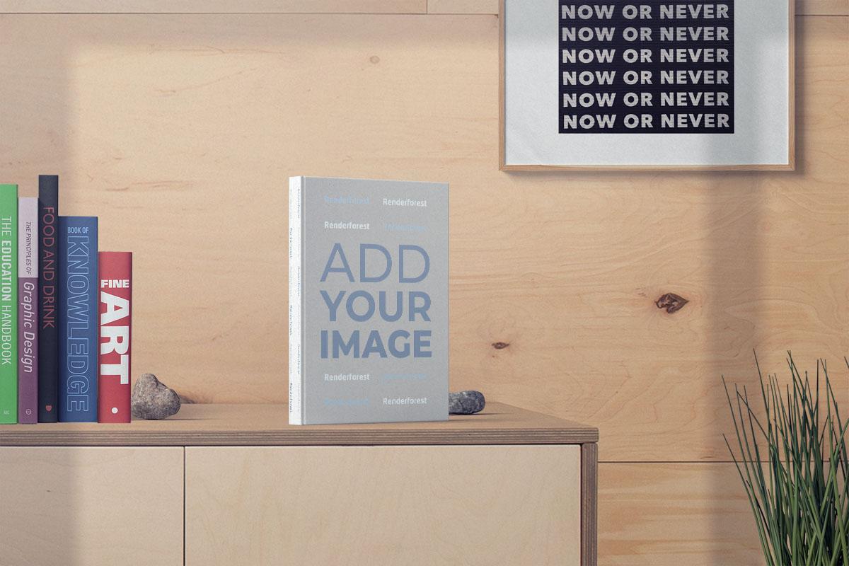 Livre debout à côté de la collection de livres sur une armoire
