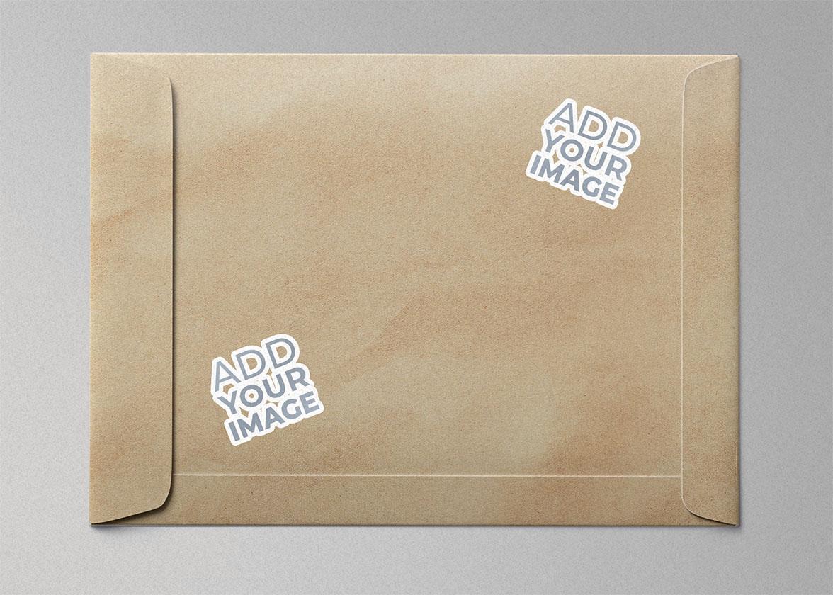 Dois Adesivos em um Envelope de Bolso
