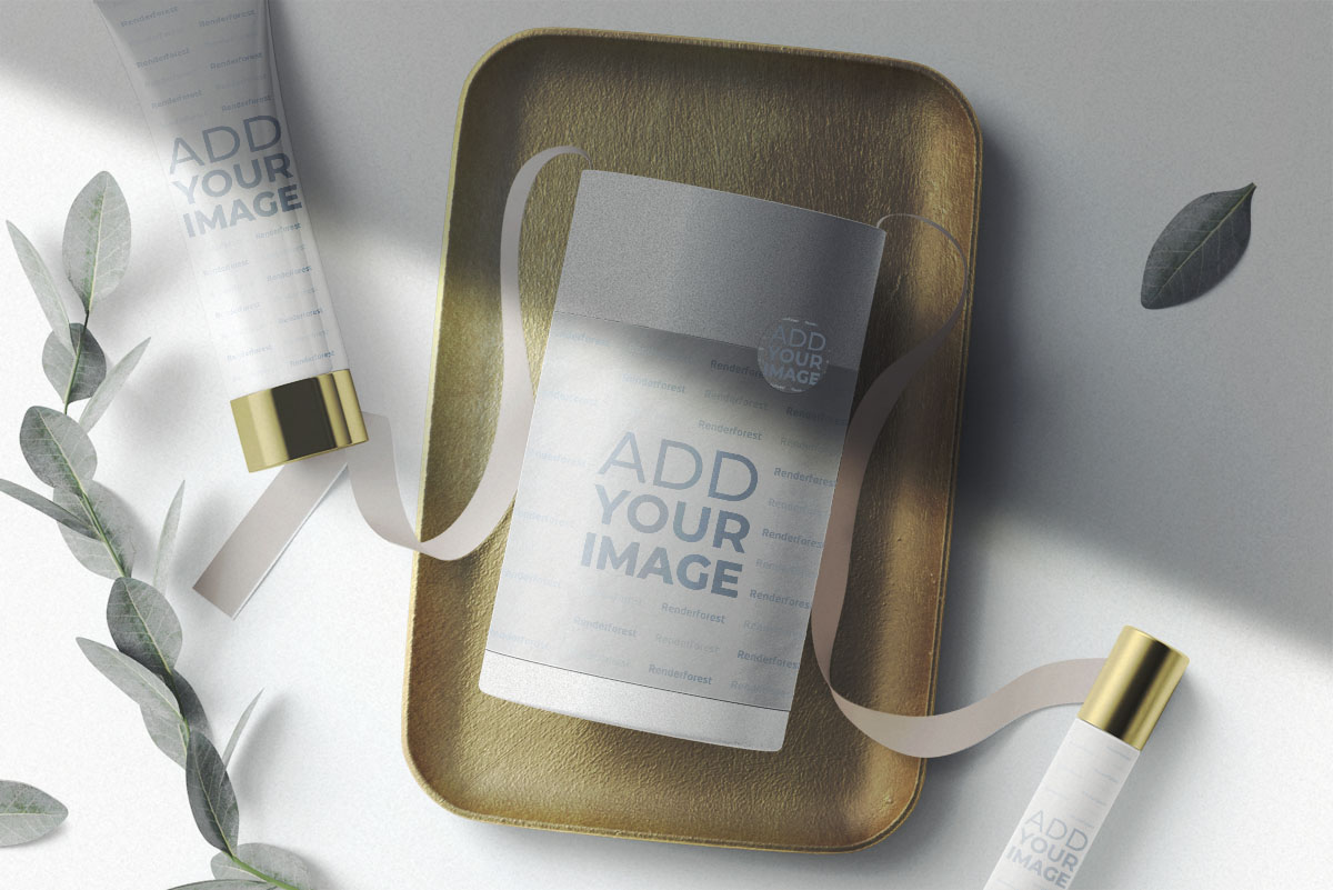 Produits de soins de la peau et leurs emballages