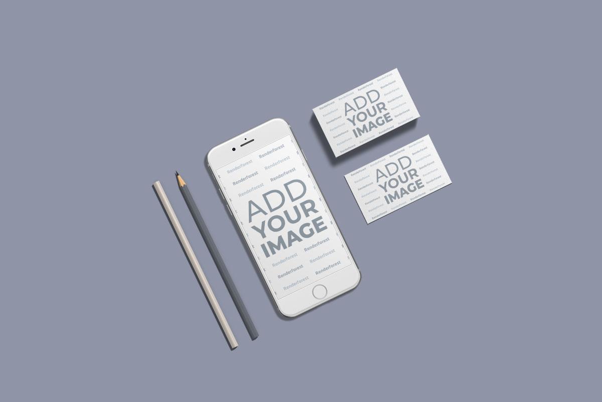 Smartphone e Material de Escritório