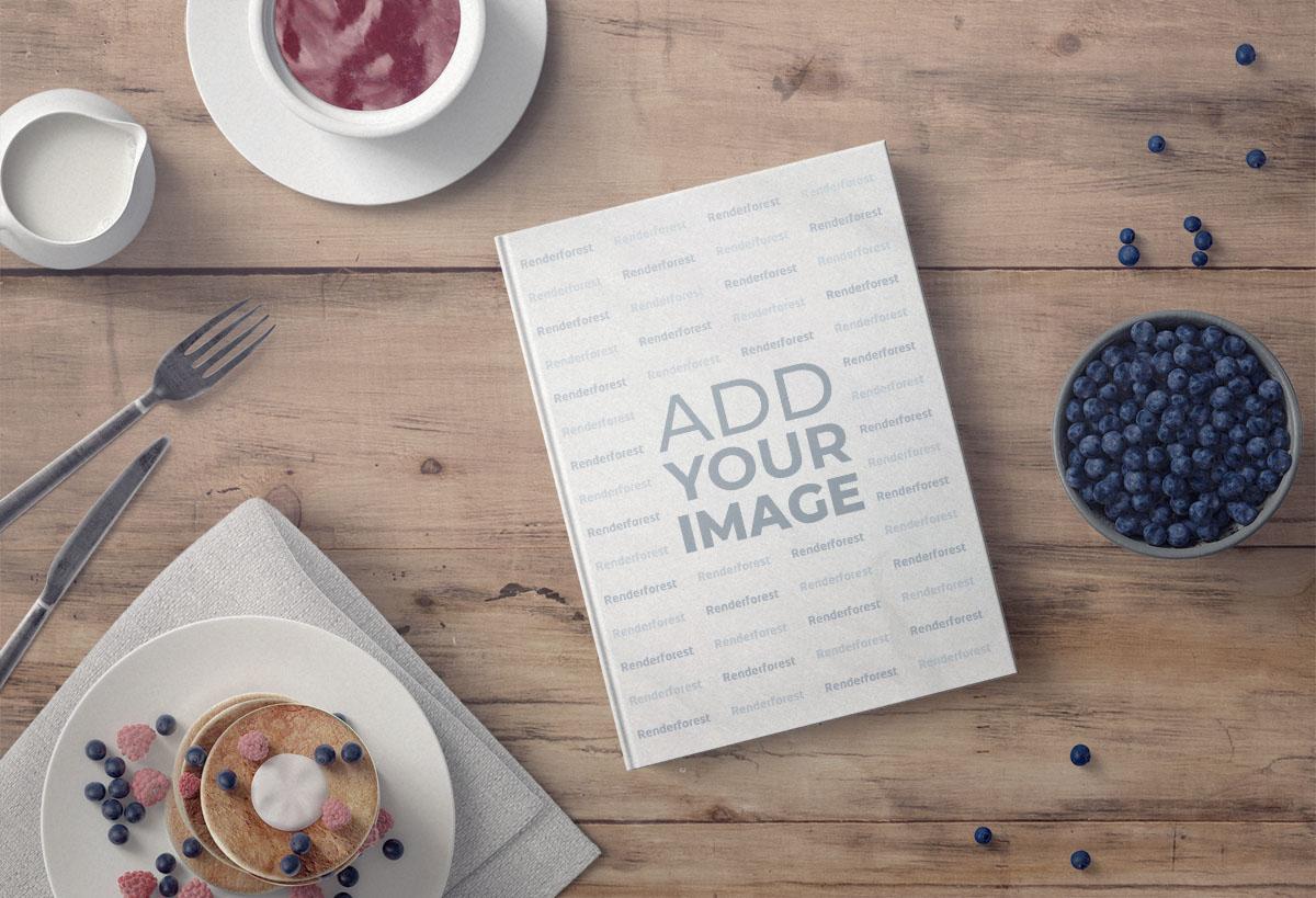 Hardcover-Kochbuch mit leckeren Nachspeisen