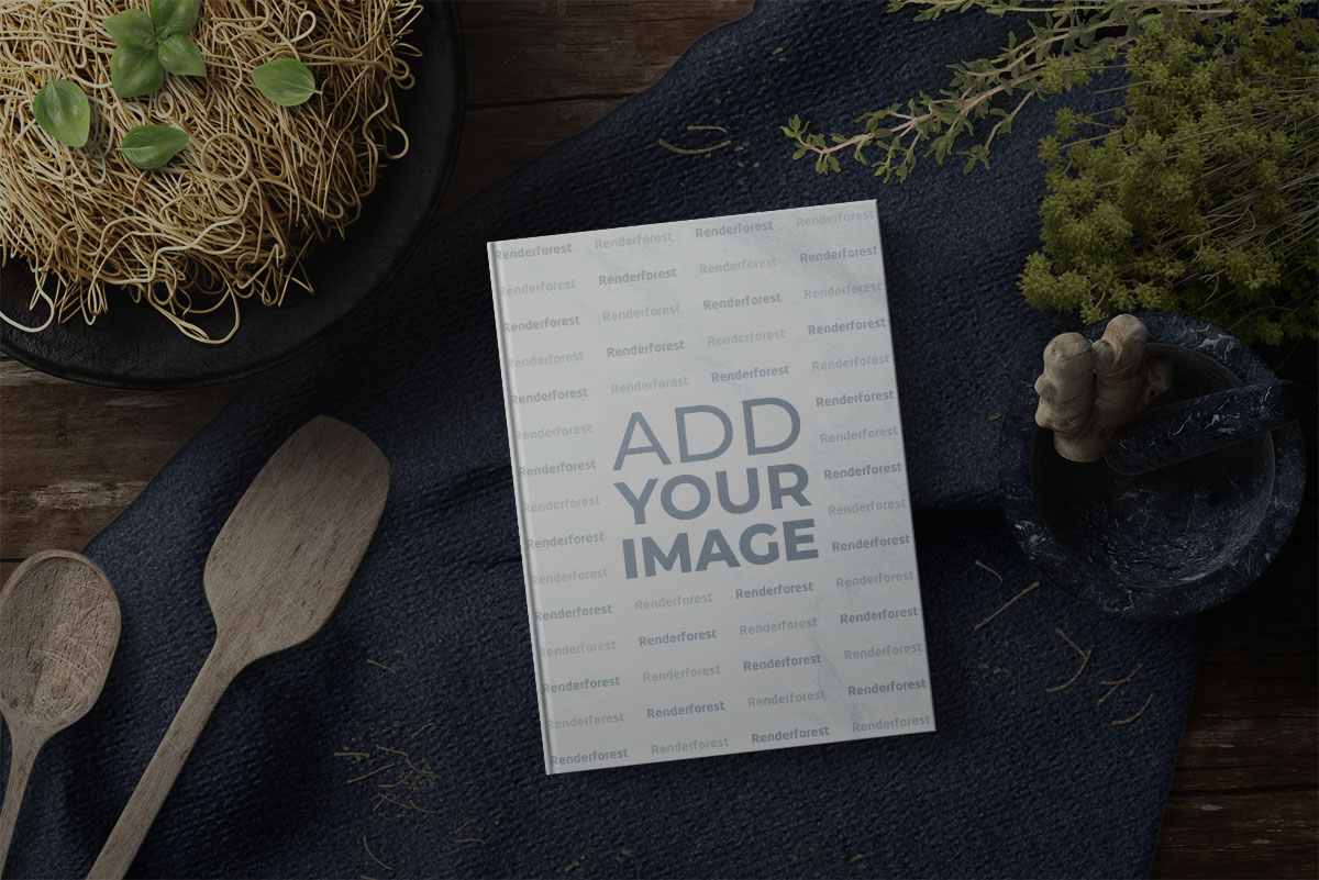 Recipe Book with Kitchen Utensils