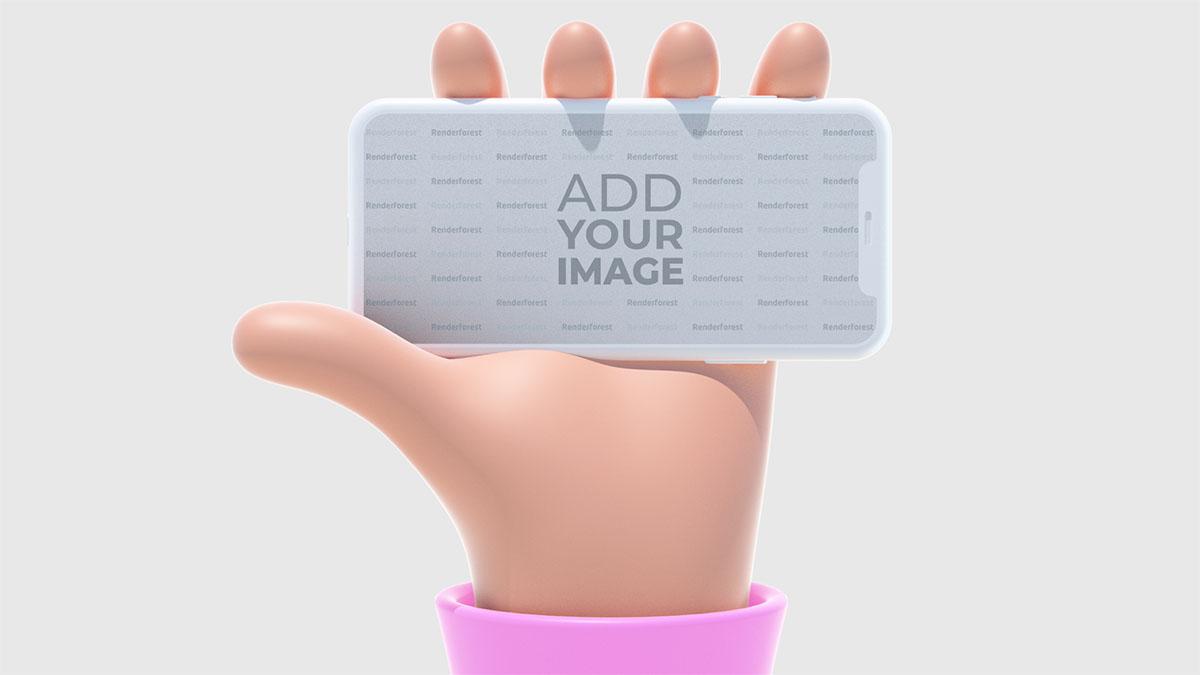 Yatay iPhone Tutan 3D El