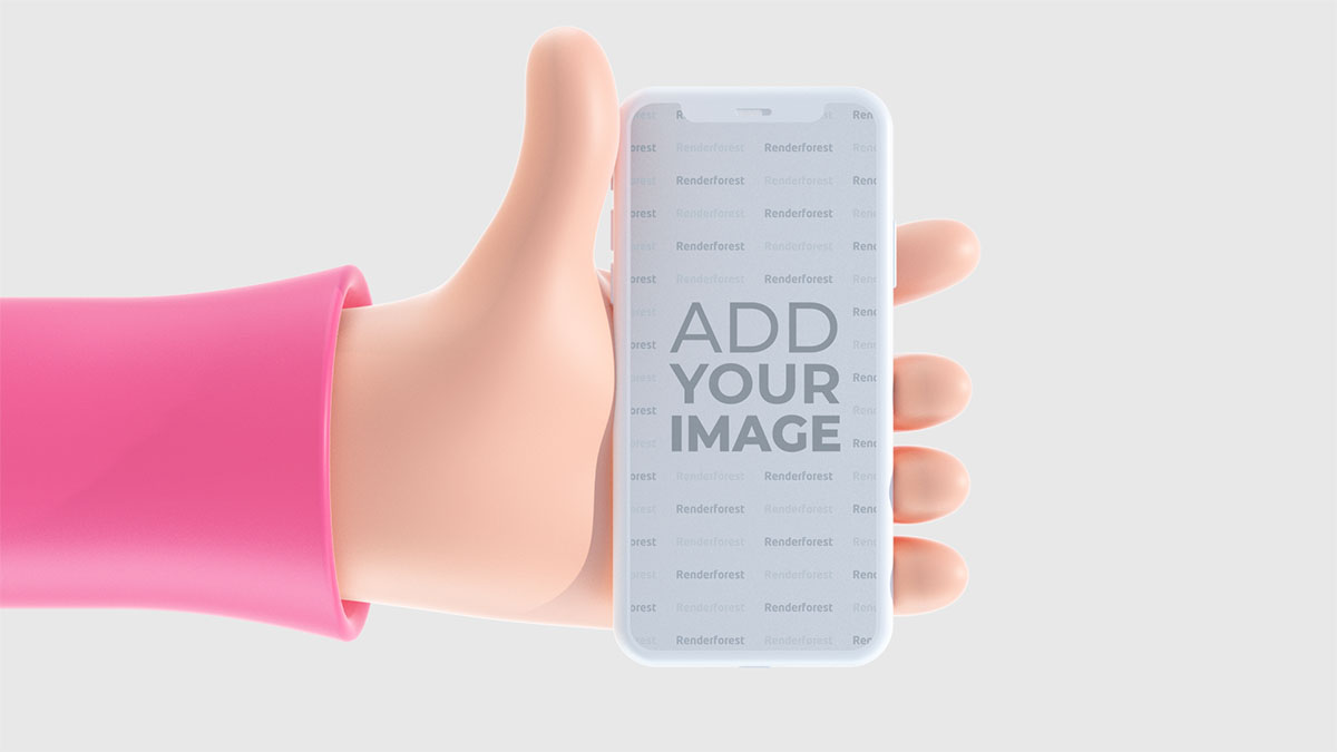 Dikey iPhone Tutan 3D El