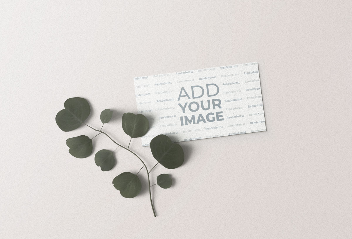 Business Card with a Plant Branch